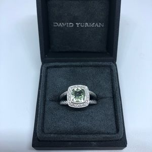 David Yurman Albion with Prasiolite and Diamonds
